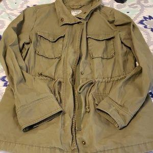 Green zip jacket